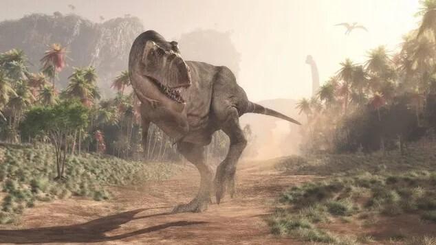 como se levanta un t-rex