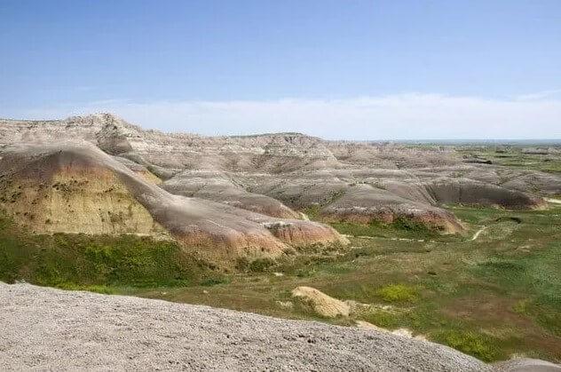 paisaje donde Sue el dinosaurio fue encontrado