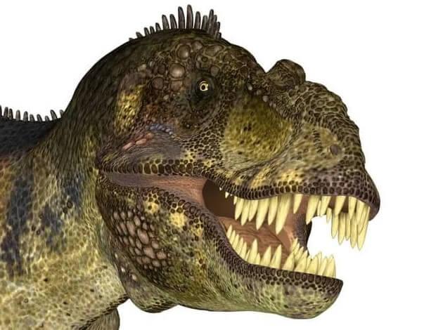 Ilustración de los dinosaurios t rex