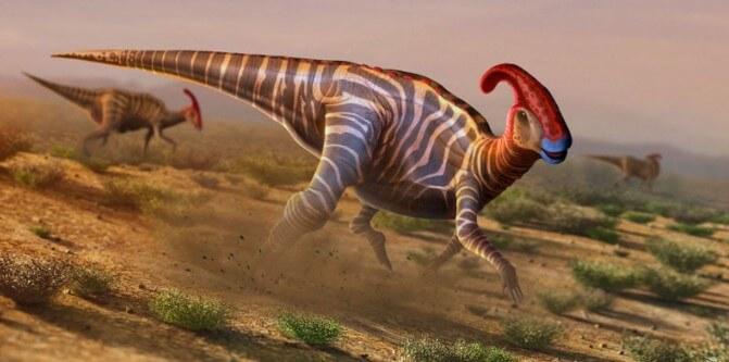 dinosaurio con cola corriendo