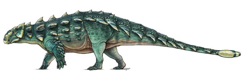 figura de dinosaurio con cola