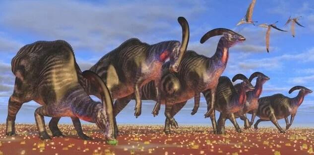 dinosaurios son cresta