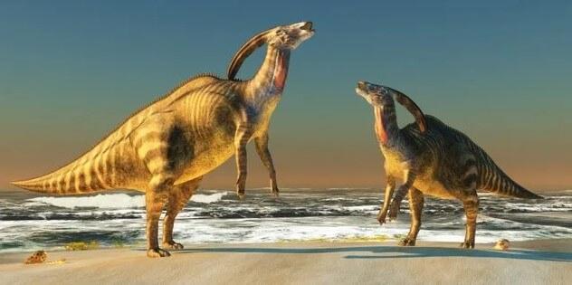 Tipos de dinosaurios de pico de pato