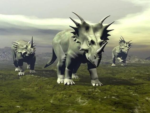 El Estiracosaurio de cuatro patas fue un dinosaurio acorazado.
