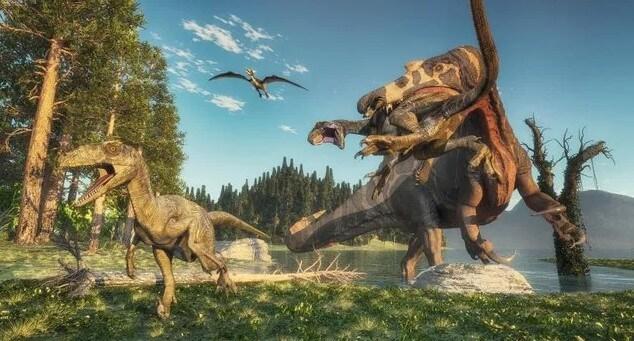 Dinosaurios de rapiña - cazados por grandes depredadores