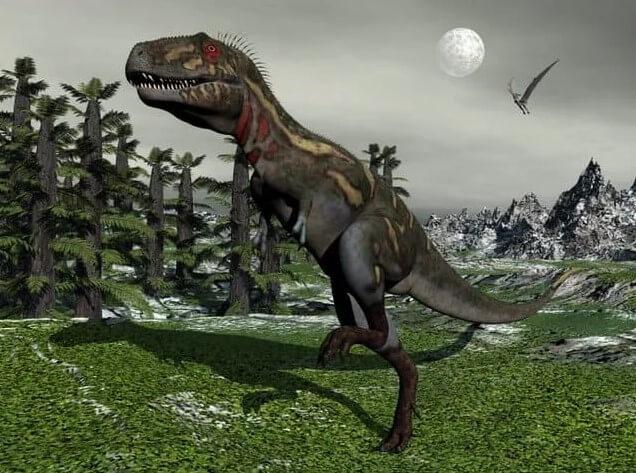 dinosaurio saltando