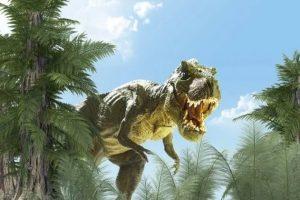 t-rex sacude el suelo