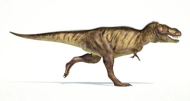 un T-Rex corriendo
